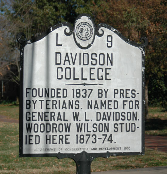 Davidson College North Carolina State Historic Site