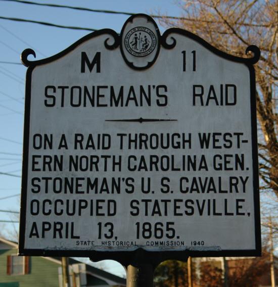 Stoneman S Raid North Carolina State Historic Site
