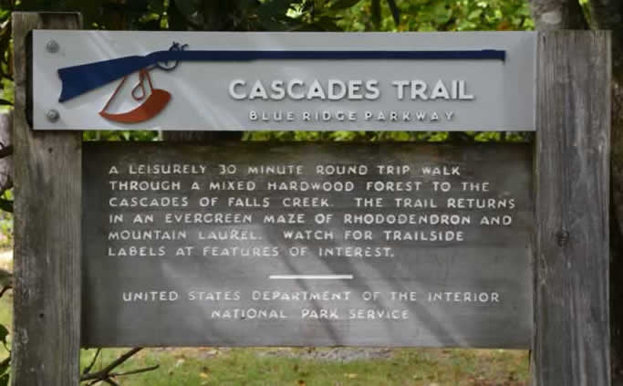 Cascades Trail And Falls Blue Ridge Parkway